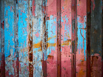 Color paint on matal wall Stock Photography