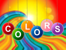 Color Paint Shows Colourful Painting And Multicolored Royalty Free Stock Image