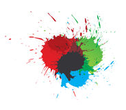 Color paint splashes. Set of vector color paint splashes , vector illustration royalty free illustration
