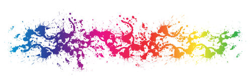 Color paint splashes Stock Images