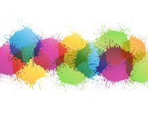 Color paint splashes Royalty Free Stock Photos