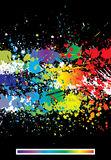 Color paint splashes abstract background Royalty Free Stock Image