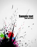 Color paint splashes background vector illustration