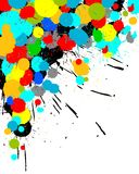Color paint splashes background Royalty Free Stock Photography