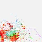 Color paint splashes background Stock Photo