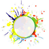 Color paint splashes background Stock Photo
