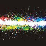 Color paint splashes. Gradient  background Royalty Free Stock Photography