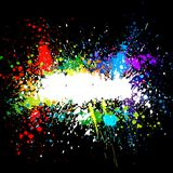 Color paint splashes. Gradient vector background royalty free illustration