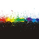 Color paint splashes. Gradient vector background vector illustration