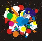 Color paint splashes. Vector background stock illustration