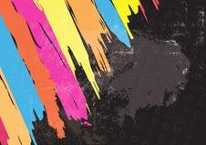 Color paint stripe background design Stock Photography