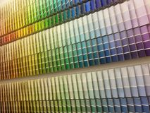 Color paint swatches Stock Photography