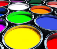 Color paint tank, abstract background royalty free stock image