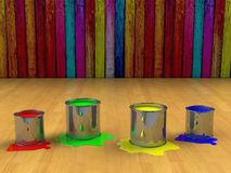 Color paint tank, abstract background Stock Photos