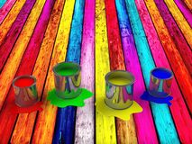 Color paint tank, abstract background Royalty Free Stock Photo