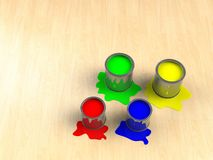 Color paint tank, abstract background Stock Photo
