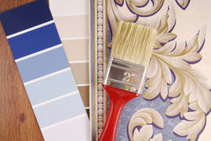 Color paint and wallpaper choice Royalty Free Stock Photos