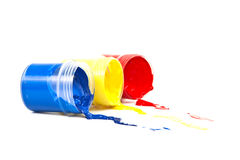 Color paint on a white background. Stock Photography