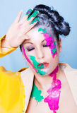Color paint woman beauty Stock Photography