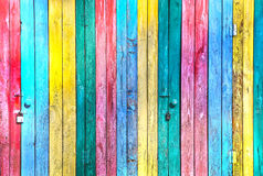 Color painted boards Royalty Free Stock Photography