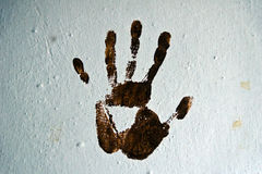 Color painted handprint Stock Photography
