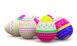 Color painted in neon colors modern easter eggs Royalty Free Stock Photography