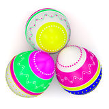 Color painted in neon colors modern easter eggs Stock Photography