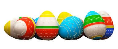 Color painted in neon colors modern easter eggs Stock Images