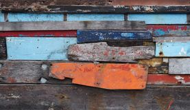 Color painted old wood plank background royalty free stock photography