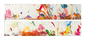 Color painted strokes Royalty Free Stock Photos
