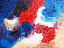 Color painting. Oil on canvas Royalty Free Stock Images