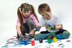 Color paints Stock Photos