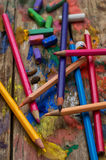 Color paints, crayons Royalty Free Stock Photos