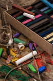 Color paints,crayons and pencils for drawing Royalty Free Stock Photo
