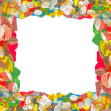 Color paints frame Royalty Free Stock Photo