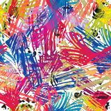 Color paints seamless pattern. Royalty Free Stock Image