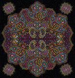 Color paisley floral ornament Royalty Free Stock Photography