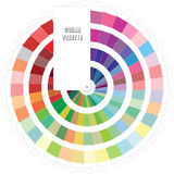 Color Palette. A realistic looking web color palette illustration Royalty Free Stock Image