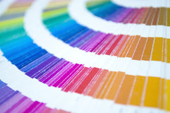 Color palette. Guide for printing industry Royalty Free Stock Photography