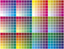Color palette. Color chart for prepress, printing and calibration business Stock Image