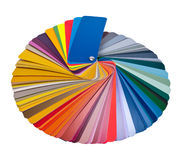 Color palette. Guide for printing industry isolated with clipping path Royalty Free Stock Photos