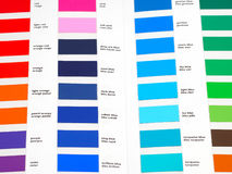 Color palette. Palette with many different colors Stock Photos