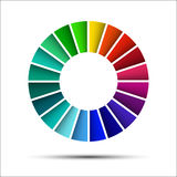 Color palette. On white background royalty free illustration