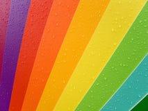 Color palette. Color palete with rain drops Stock Photo