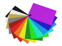 The color palette of acrylic in 3D Stock Photos