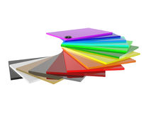 The color palette of acrylic in 3D Stock Photo