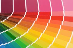 The color palette as a background. The color palette a background close up royalty free stock photography