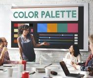 Color Palette Chart Design Concept Royalty Free Stock Photo