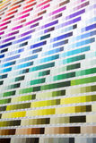 Color palette. Close up view at color palette royalty free stock images