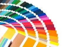 Color palette, color guide, paint samples, color catalog Stock Image